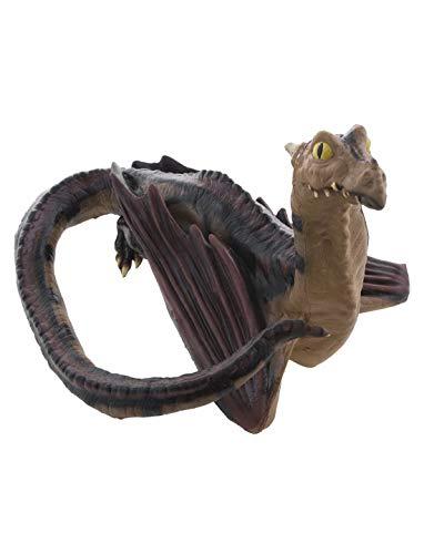 toybakery - Halloween Dekoration, Deko anmutiger Drachen Dragon, ideal für Jede Halloween Party / Feier, Braun