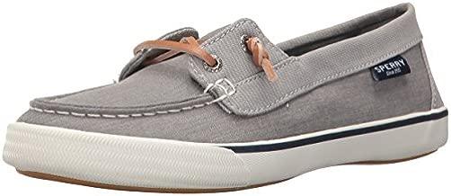 Sperry Womens Lounge Away Sneaker, Grey, 8