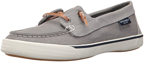 Sperry Womens Lounge Away Sneaker, Grey, 7