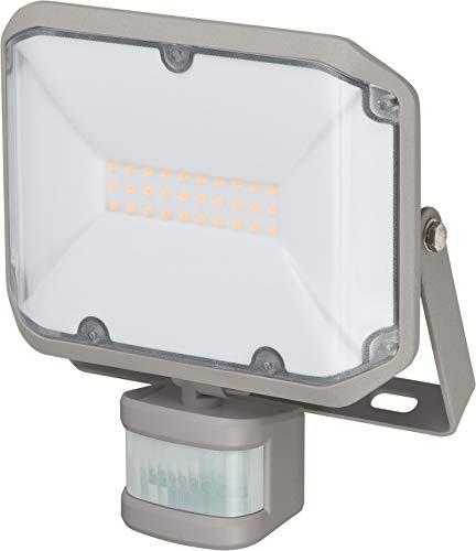 Brennenstuhl LED Strahler AL 2000 P / LED Fluter für außen mit Bewegungsmelder (LED-Außenstrahler zur Wandmontage, 20W, warmweißes Licht, IP44)