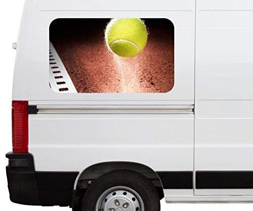 Autoaufkleber Tennisball im Spiefeld Tennis Sport Car Wohnmobil Auto tuning Digital Druck Fenster Sticker LKW Bild Aufkleber 21B675, Größe 3D sticker:ca. 96x58cm