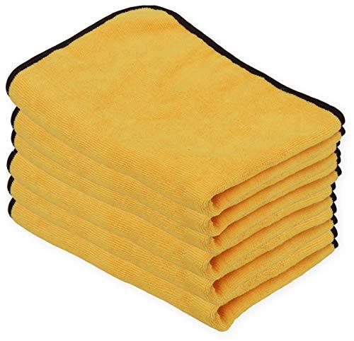 Simple Houseware 6PK Premium Microfiber Towel, Orange