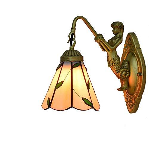 Allamp 40W lámpara de pared, la pared de luz británica con el ornamento verde de la hoja, Pasillo luz de la noche decoración de la pared de la lámpara Adecuado para el hogar, hotel, sala de estar, pas
