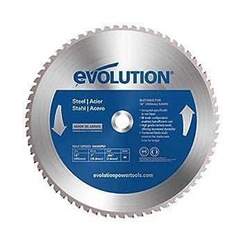 Evolution Power Tools 14BLADEST Steel Cutting Saw Blade 14-Inch x 66-Tooth  Blue