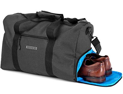 ronin's Stilvolle Sporttasche Reisetasche mit Schuhfach und Trinkflaschen-Halter | 36 Liter Handgepäck Tasche 50x27x27 | Hochwertige Canvas Weekender Tasche für Damen und Herren