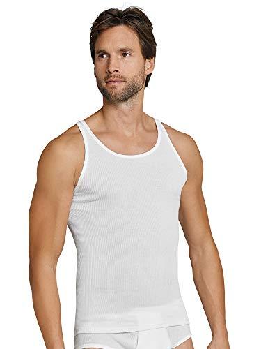 Schiesser Herren Unterhemd, 2er Pack, Gr. XXXX-Large (Herstellergröße: 010), Weiß (weiss 100)