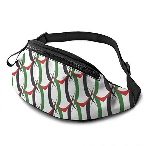 PULLA Marsupio Sportivo Marsupio Cintura Viaggio Cintura Nascosta Portasoldi Palestine Shine