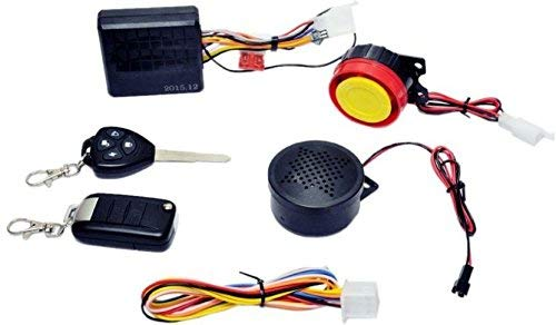 AUTO MT 12v Universal Security Alarm System with Dual Remote Control Engine Start for Motorcycle Motorbike Scooter
