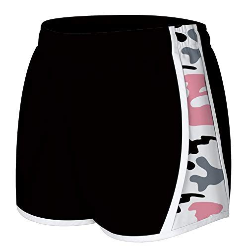 NEWISTAR Women's Summer Shorts Casual Camouflage Graphic Swim Trunks Drawstring Elastic Waist Beach Shorts Hot Pants