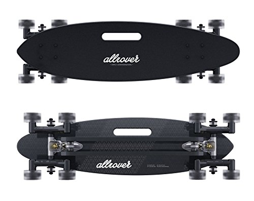 Allrover Stair-Rover Longboard - Perfect Skateboard for City Surfing over any Obstacle