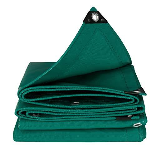 EUGAD Lona Impermeable Exterior PVC Universal con Ojales Toldo y Duradera Resistente al Agua y a los Rayos UV, Muy Gruesa para Muebles,jardín ,Coche, Piscina Color Verde 4x5m 0126PB