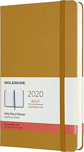 Moleskine 12 Mesi 2020 Agenda Giornaliera, Copertina Rigida e Chiusura ad Elastico, Colore Giallo Maturo, Dimensione Large 13 x 21 cm, 400 Pagine