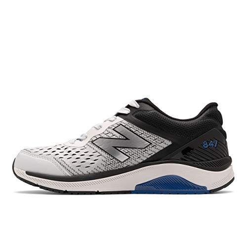 New Balance Men's 847 V4 Walking Shoe, Arctic Fox/Black, 10.5 Wide