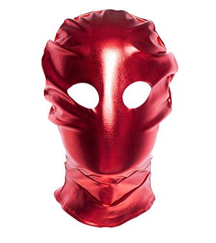Lieberpaar Masque Cuir Fetish Sadomasochisme SM Halloween Cosplay Prop Rouge