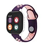Replacement Kids Band for Gizmo Watch 2/1 - Breathable Soft Silicone Band Compatible with Verizon Gizmo Watch 2 / Gizmo Watch 1, Purple Pink