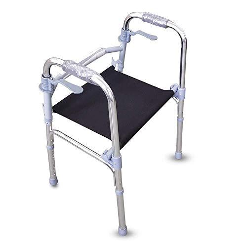 LXDDJZXQ Andador para Ancianos Walker, Ancianos Caminantes Viaje Ultraligero Compacto con Ayuda de Movilidad de Asiento for discapacitados Bariátrica Caminar Adulto Altura Ajustable en Altura ⭐