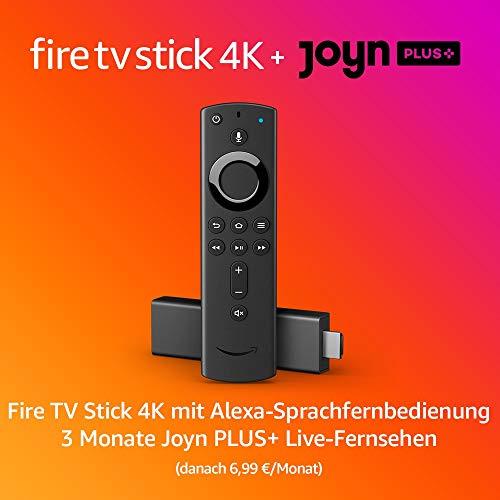 FireTVStick 4K + 3 Monate Joyn PLUS+ (danach 6,99 € / Monat)