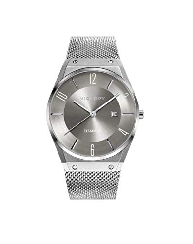 Viceroy Herren Analog Quarz Uhr mit Titan Armband 42323-17