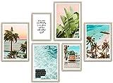 ARTFAVES® Poster Set - SUMMER VIBES | Wanddeko Wohnzimmer