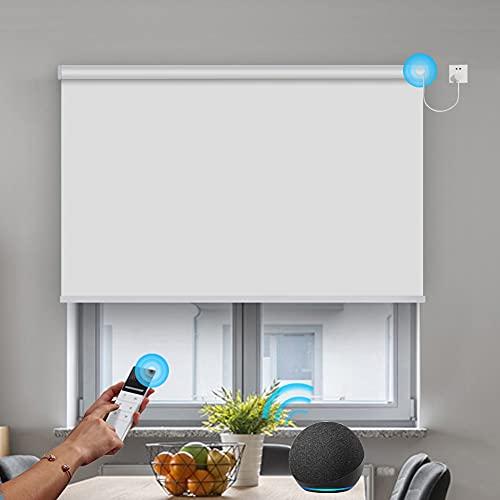 Hard-Wired WiFi Motor Smart Blackout Blinds Custom...
