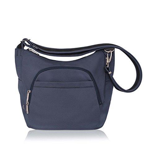 Travelon Anti-Theft Cross-Body Bucket Bag (Blue - Exclusive Color)