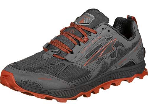ALTRA Men's AFM1855F Lone Peak 4.0 Trail Running Shoe, Gray/Orange - 15 D(M) US