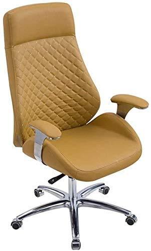 CHAIR Stuhl Möbel Konferenzstuhl Bürostuhl High-End Boss Stuhl, moderner minimalistischer Computerstuhl kann bequemen Empfangsstuhl heben,Braun,66 cm * 66 cm * 120 cm