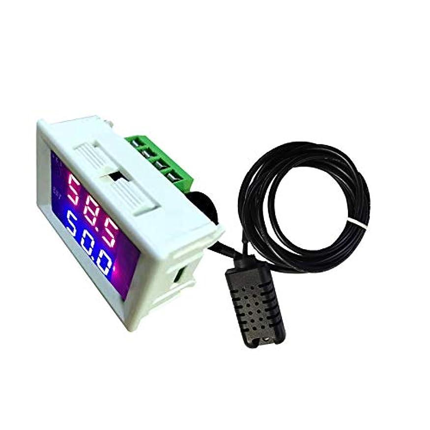 添加ブロックする腐ったTOOGOO 2026c 12V デジタル湿度計湿度計リアルタイムledディスプレイ湿度計1%-99%rh調節可能湿度コントローラ