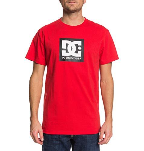 DC Shoes Herren Square Star-T-Shirt für Männer, Racing red, S