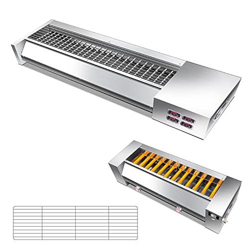 Gril Parrilla abrasiva eléctrica, Dispositivo de Control de Temperatura de Varias velocidades...