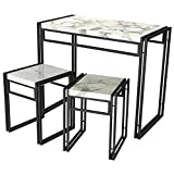 Atlantic Dining Table Set - 3 Piece Set in Marble PN82008039