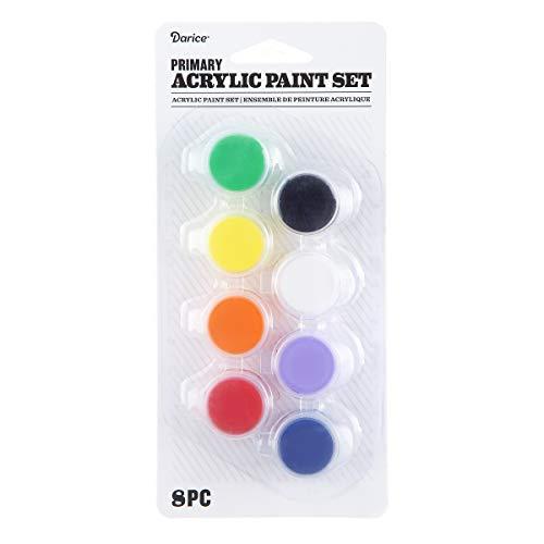Acrylic Paint Pot Set: Primary, 8 Colors, Multicolor