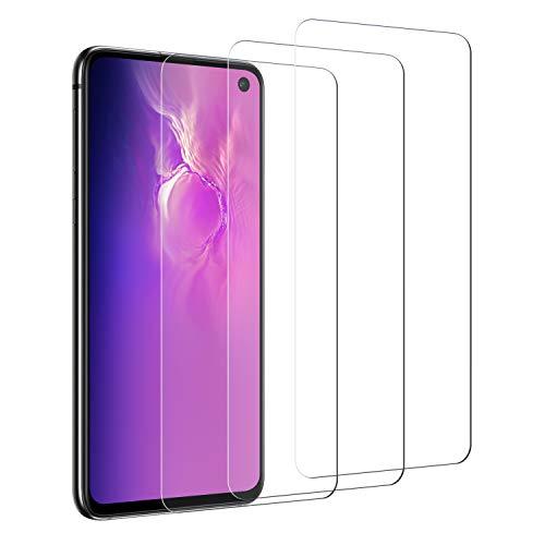 Wlife Panzerglas Schutzfolie Kompatibel mit Samsung Galaxy S10E, [3 Stück] [9H] [Kratzfest] [HD Ultra-Klar] [Blasenfrei] [Anti-Fingerprint] Displayschutzfolie, Hohe Qualität Panzerglasfolie