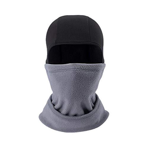 BESPORTBLE Cagoule Polaire Masque Facial Équipement de Tête Coupe-Vent Protecteur de Tête pour Hommes Femmes Équitation Ski Snowboard Vélo Hiver (Gris)