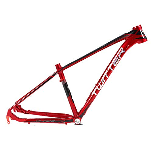 MAIKONG Cuadro de Bicicleta de montaña de aleación de Aluminio 15.5/17/19-pulgada Unibody Brillante Cableado Externo enrutamiento AL7005 MTB Ultraligero 27.5-Pulgadas BB68,Rojo,17