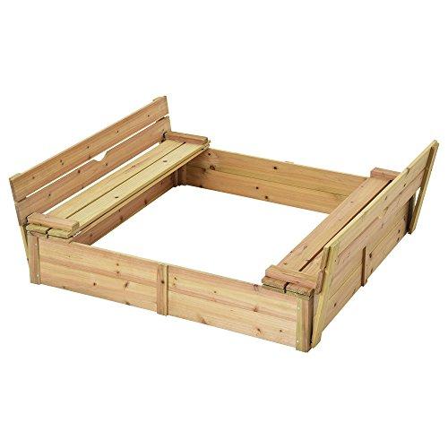 ぼん家具 砂場 ふた付き 木製 自宅用 子供の遊び場 砂遊び サンドボックス すなば キッズ 子ども