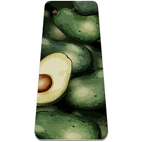Esterilla de ejercicio multiusos de 183 cm x 61 cm extra gruesa para yoga, ideal para flexiones y ejercicios, aguacate verde