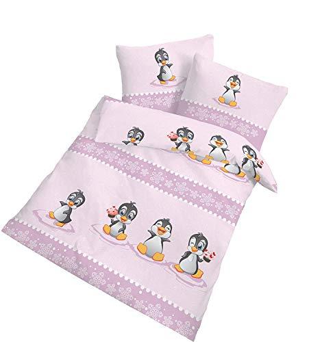 'Parure de lit en flanelle bébé fille \