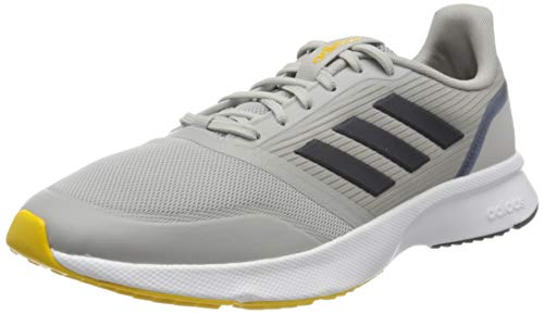 adidas Mens Nova Flow Road Running Shoe, Grey/Legend Ink/EQT Yellow, 47 1/3 EU