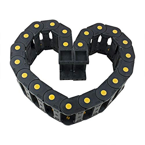 YOBAIH Cable Drag Chain 25x77mm Plastic Open Type Cable Drag Chain Wire Carrier Length 1m For 3D Printer CNC Router Machine Tools
