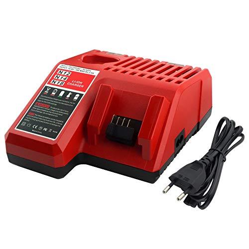 Gooality Cargador de batería de litio Milwaukee M18 M12 M12-18C MIL-M18-CH01 48-59-1812 N14 de 18 V 220 V