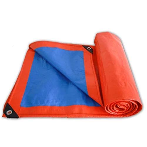 Bâches Isolation extérieure imperméable de bâche de protection solaire de bâche de protection solaire (Couleur : Blue orange, taille : 4 * 8m)