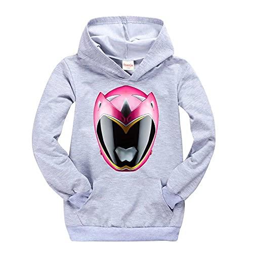 Power Ranger - Sudadera con capucha para niños y niñas