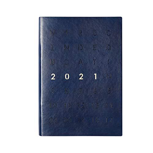 Blocs y Cuadernos de Notas 2021 planificador - planificador semanal y mensual, Cuero smoilado y Cubierta Flexible 2021 portátil planificador Blocs y Cuadernos de Notas
