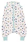 Schlummersack Bambus Musselin Babyschlafsack mit Füßen 0.2 Tog für den Sommer - Boote - 70 cm
