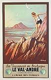 Unbekannt Poster Bretagne Val André Reproduktion, Format
