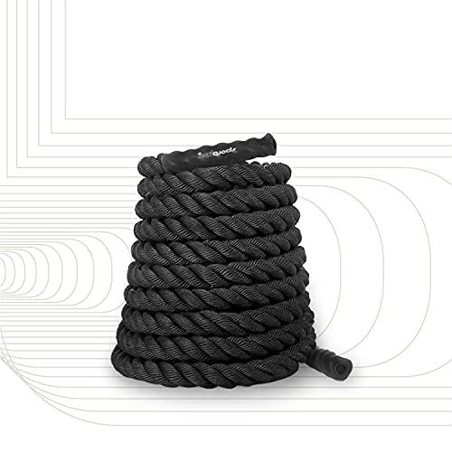 SportPlus Battle Rope, Seillänge 15 Meter, 3,8 cm Durchmesser, hochwertiges Schlagseil für Kraftausdauer & Muskelaufbau, Schwungseil für effektives Ganzkörpertraining & Functional Training, SP-BR-015