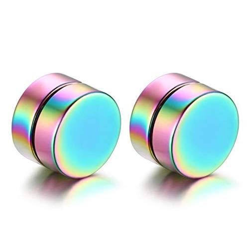 Bwer 5 Colors Option Ear Clip Stainless Steel Magnetic Ear Stud Men Women's Clip Earring On Non-Pierced Earrings