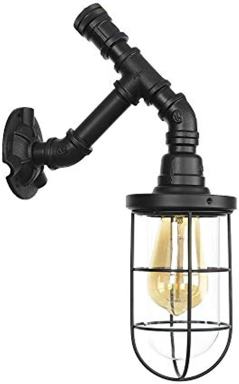 SUWIND Vintage Industrial Steampunk Wasserpfeife Wandleuchte Retro Cafe Bar Wasserpfeife Wandleuchte Retro Metall Wandleuchte Edison Lampe Leuchte Dekoration Zubehr, schwarz