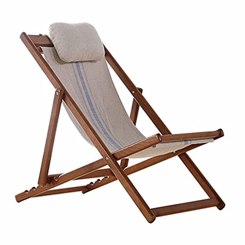 Silla Plegable El sillón reclinable de Madera Maciza está Hecho de Roble...